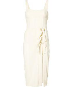 Rebecca Vallance | Billie Split Midi Dress 12 Polyester/Spandex/Elastane