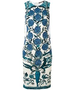 Roberto Cavalli | Rose Print Shift Dress