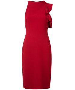 Black Halo   Asymmetric Ruffle-Trim Dress 12 Spandex/Elastane/Polyimide/Polyamide/Viscose