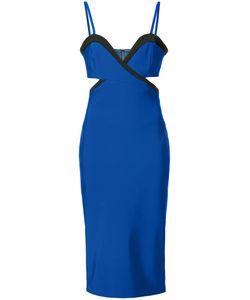 Mugler | Приталенное Платье С Резным Дизайном