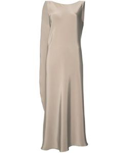 PETER COHEN | Draped Midi Dress Medium Silk