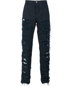 HOOD BY AIR | Destroyed Effect Trousers 30 Cotton