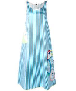 Mira Mikati   Striped Cut Out Dress Size 42