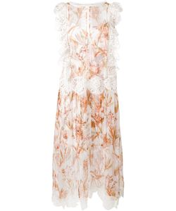 Zimmermann | Ruffled Sheer Dress 3 Silk/Polyester/Spandex/Elastane