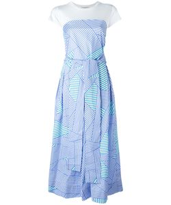 Erika Cavallini | Striped Trim Flared Dress Size 44