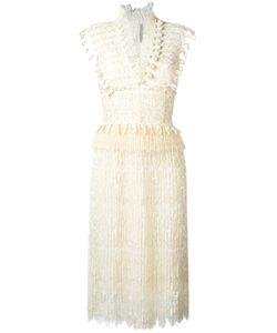 Ermanno Scervino | V-Neck Fringed Midi Dress