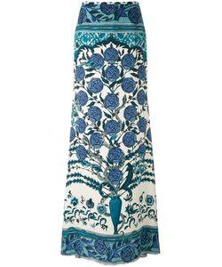 Roberto Cavalli | Carnation Print Maxi Skirt Size 46