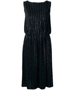 Marc Jacobs | Glitter Pinstripe Dress Small Polyester/Spandex/Elastane