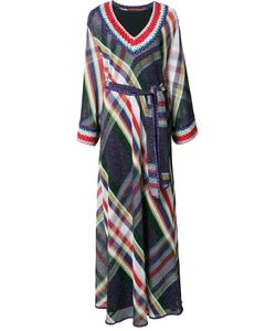 Missoni | Long Belted Dress 40 Viscose/Cupro/Polyester/Wool