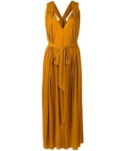 Barbara Bui | Mustard Grecian Dress Lyocell