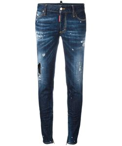 Dsquared2 | Distressed Skinny Jeans 44 Elastodiene/Cotton