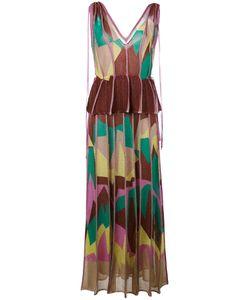 Missoni | Платье С Геометрическим Рисунком И Баской M