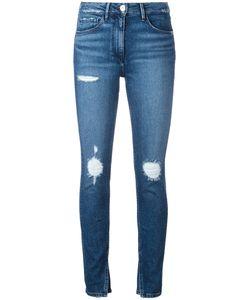 3X1   Slit Ankles Cropped Jeans 28 Cotton/Polyamide/Spandex/Elastane