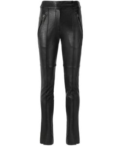 GLORIA COELHO | Skinny Trousers 36 Leather