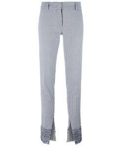 Cedric Charlier | Cédric Charlier Houndstooth Pattern Slim-Fit Trousers 40 Cotton/Rayon