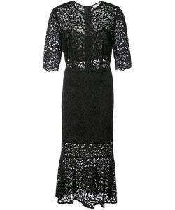 Veronica Beard | Lace Embroidered Flared Dress Women