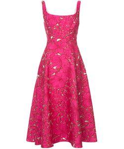Lela Rose | Платье С Цветочной Вышивкой