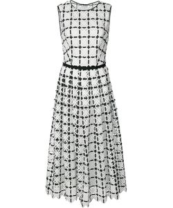 Carolina Herrera | Geometric Lace Pleated Dress