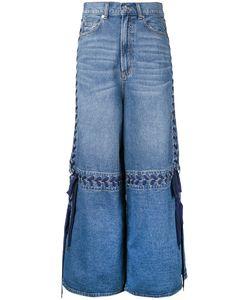 G.V.G.V. | Lace-Up Wide Leg Jeans 36 Cotton