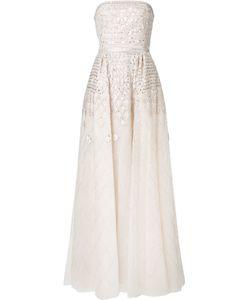 Zuhair Murad | Вечернее Платье Без Бретелей Из Тюля