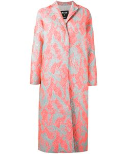 MSGM | Porous Texture Midi Coat Size 40 Polyester/Polyamide Fibre