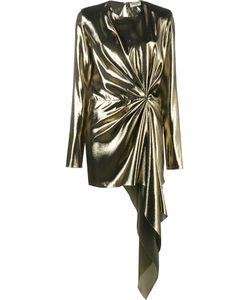 Saint Laurent | Asymmetric Draped Mini Dress 36 Silk/