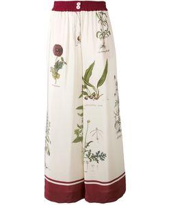 Erika Cavallini | Botanical Print Wide Leg Trousers