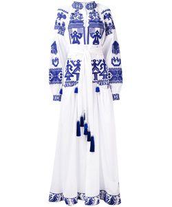 Yuliya Magdych | Длинное Платье С Этническим Принтом