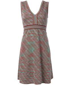 Missoni | M Ribbed Patterned Shift Dress Size 44 Cotton/Polyamide/Viscose/