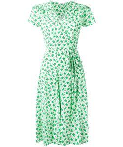 P.A.R.O.S.H. | Star Print Wrap Dress Medium Silk/Spandex/Elastane