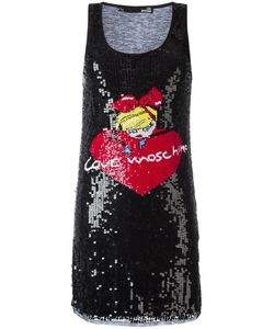 Love Moschino | Sequinned Logo Motif Dress