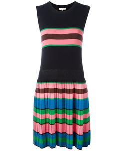 Chinti And Parker | Pleated Knitted Dress Xs Silk/Cotton