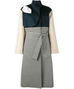 A.W.A.K.E. | Gingham And Denim Trench Coat Size 38 Cotton