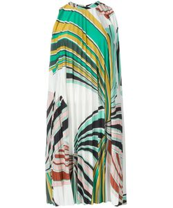 Emilio Pucci | Geometric Print Pleated Dress 44 Viscose/Polyester