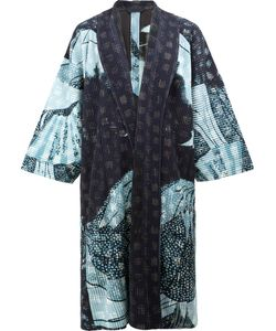 HOMME PLISSE ISSEY MIYAKE | Homme Plissé Issey Miyake Abstract Print Kimono Coat 1