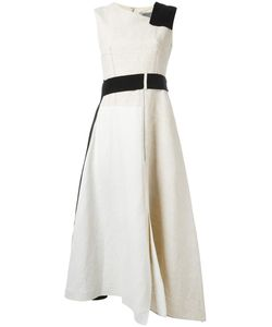 SportMax | Bicolour Dress 38 Linen/Flax/Cotton/Viscose/Polyester