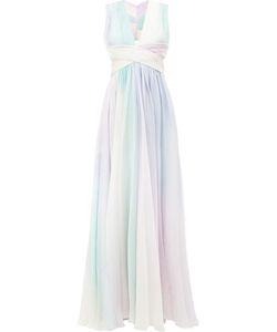 Zuhair Murad | Pastel Rainbow Print Dress 42 Silk/Polyamide