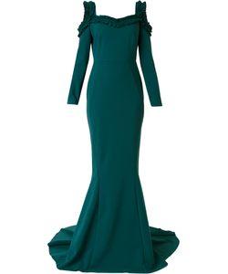 GRETA CONSTANTINE | Pleat Detail Evening Dress Women
