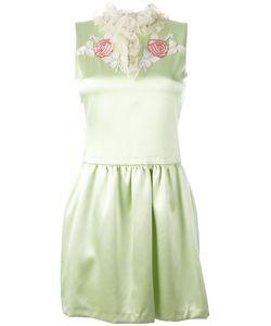 GIAMBA   Ruffled Neck Flared Dress Size 42
