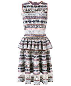 Alexander McQueen | Jacquard Peplum Dress