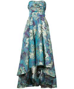 Marchesa Notte | Парчовое Платье С Цветочным Узором
