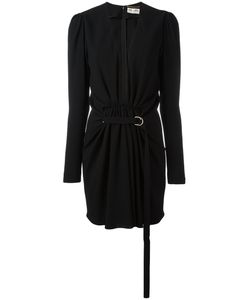 Saint Laurent | Gathered V-Neck Mini Dress Size