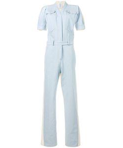 Rosie Assoulin   Short Sleeve Denim Jumpsuit