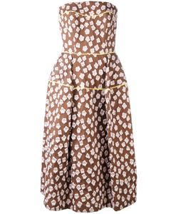Talbot Runhof | Patterned Bandeau Dress