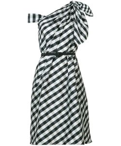 Carolina Herrera | Plaid Taffeta One Shoulder Dress Size 12