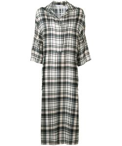 Victor Alfaro | Plaid Midi Shirt Dress
