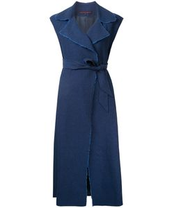 Martin Grant | Raw Edge Wrap Dress 40 Linen/Flax