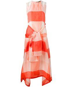 SportMax   Checked Tie-Fastening Dress Size 34