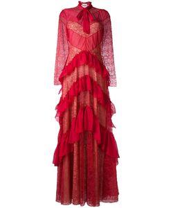 Zuhair Murad | Платье С Оборками И Кружевными Вставками