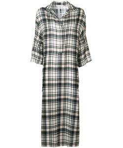 Victor Alfaro | Plaid Midi Shirt Dress 8 Silk